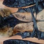 Продам кожаный пуховик- жилет, Новосибирск
