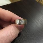 Золотое кольцо с бриллиантом мужское, Новосибирск