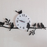 Настенные часы собственного изготовления, Новосибирск