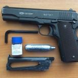 Пневматический пистолет SLT 1911 производства компании gletsher., Новосибирск