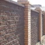 Заборы, ограждения: строительство, бетонные работы, кирпич, бут,дерево, Новосибирск