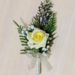 """Свадебная бутоньерка для жениха """"Счастливый день"""", Новосибирск"""