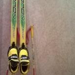 Продам лыжи 140 ботинки 31 и палки, Новосибирск