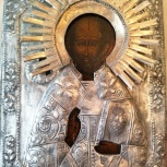Икона Св. Николай Чудотворец, 18-19 век, Новосибирск