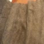 Натуральная серая пуховая шаль 120х120, Новосибирск