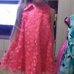 нарядное платье для девочки на рост от 110 см до 116 см, Новосибирск