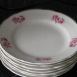 7 тарелок с позолотой,новые. Вазы для цветов., Новосибирск