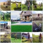 Вспашка земли мотоблоком. Услуги по покосу, вспашке, расчистке, Новосибирск