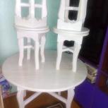 Стол и табуретки из сосны, Новосибирск