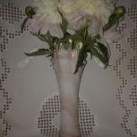 Ретро-ваза СССР молочное кремовое стекло, Новосибирск