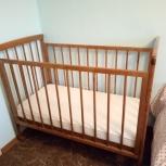 Продам детскую кроватку с матрасом, Новосибирск