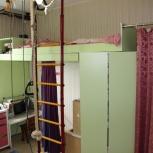 Двухъярусная кровать со встроенными шкафами, Новосибирск