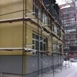 Фасадные работы. Вентфасады из сайдинга, керамогранита, мокрые фасады, Новосибирск