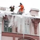 Очистка крыш от снега и сосулек, Новосибирск