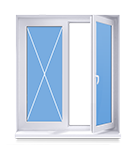 Окно 1300x1320 под ключ в панельный дом, Новосибирск