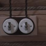Монтаж Ретро проводки витым кабелем на изоляторах., Новосибирск