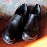 Черные кожаные осенние туфли., Новосибирск
