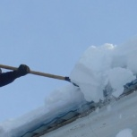 Сброс снега .Альпинисты, Новосибирск