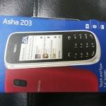 Новый смартфон Nokia Asha 203 Gray, Новосибирск
