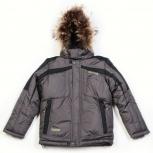 Куртка для мальчика-подростка Kiko (серый/черный) 140см, Новосибирск