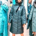 48-56р длинное пальто натур норка верблюжья шерсть две расцветки, Новосибирск