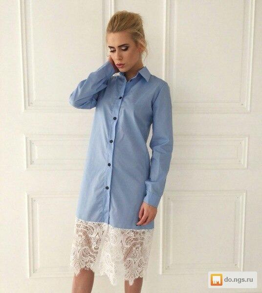 4a05a8f634945bd Платье рубашка с кружевом фото, Цена - 4450.00 руб., Новосибирск ...