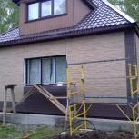 монтаж японской фасадной плиты, сайдинга, водосточной системы, Новосибирск