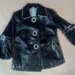 Турецкая классная детская кожаная курточка (новая), Новосибирск