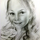 Портрет карандашом, Новосибирск