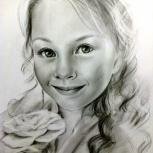 Портрет карандашом по фото, или с цифрового носителя, Новосибирск