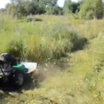 Скос, покос травы ( вспашка земли), Новосибирск