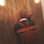 Мужской рюкзак из натуральной кожи, Новосибирск