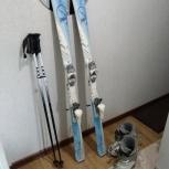 Продам горные лыжи с ботинками и палками, Новосибирск