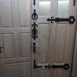 Дверь входная деревянная, производство, тёплая толстая  (м2), Новосибирск