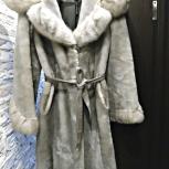 Роскошная мутоновая шуба с норковой отделкой, Новосибирск