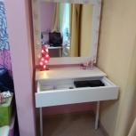 Продам косметический столик с зеркалом, Новосибирск
