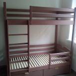 Кровать двухъярусная с классической лестницей, Новосибирск
