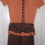 Платье трикотажное с баской новое, р-42(44), Новосибирск
