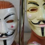 маска анонимуса, Новосибирск