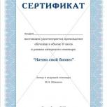 """Мастер-класс «Начни свой бизнес"""", Новосибирск"""