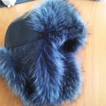 Продам новую зимнюю кожанную шапку., Новосибирск