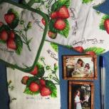 Комплект кухонный: полотенце, варежка, прихватка., Новосибирск