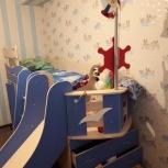 Детская кровать со шкафом и столом Адмирал., Новосибирск