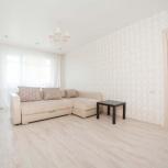 Стильный диван с кожаными подлокотниками, Новосибирск