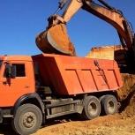 Услуги доставки земли, щебеня, песка, пгса,отсева, торфа, вывоз мусора, Новосибирск