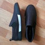 Продам новые мужские кеды-слипоны 41-42рр, Новосибирск