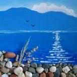 продам курс рисования Каменный берег телецкого озера, Новосибирск