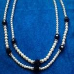 Продам ожерелье, под жемчуг, новое, с этикеткой, Новосибирск