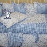 Комплект в кроватку (бортик+комплект постельного белья) Новые, Новосибирск