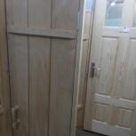 Дверь банная и входная из дерева производство по размеру  цена за м2, Новосибирск